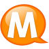 Speech-balloon-orange-m icon