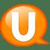 Speech-balloon-orange-u icon