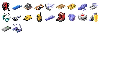 Mountaineering Gear Icons