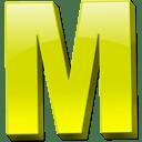 Letter m icon
