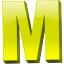 Letter m icon