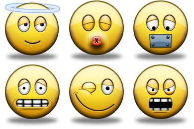 Shiny Smiley Icons
