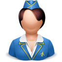 Airhostess woman icon