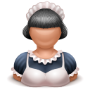 Maid girl icon