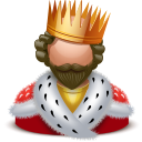 Royal king icon