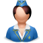 Airhostess-woman icon