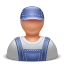 Contractor man icon