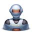 Robot male icon