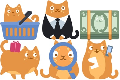 Cat Commerce Icons