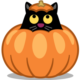 cat pumpkin icon
