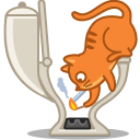 Cat smoke icon