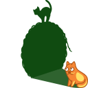 cat shadow ball icon