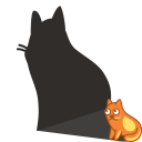 cat shadow icon