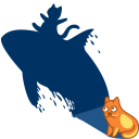 cat shadow whale icon
