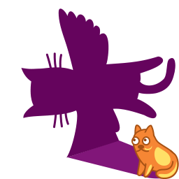 Cat shadow fly icon