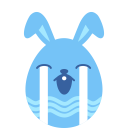 Blue cry icon