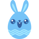 Blue cute icon
