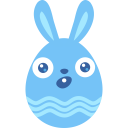 Blue surprised icon
