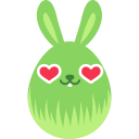 Green love icon