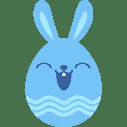 Blue happy icon