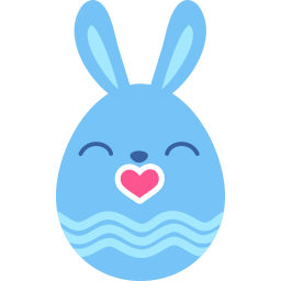 Blue kiss icon