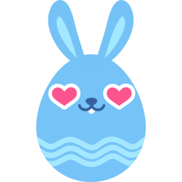 Blue love icon