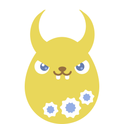 Yellow demon icon