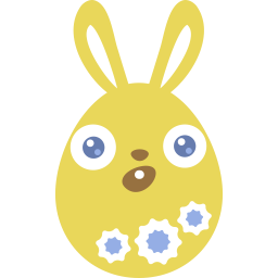 Yellow surprised icon