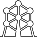 Brussels atomium icon
