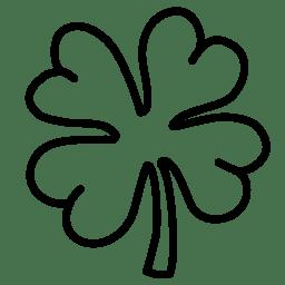 Clover outline icon