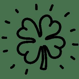Clover shine outline icon
