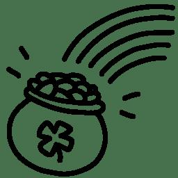 Rainbow gold outline icon
