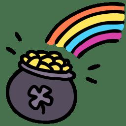 Rainbow pot icon