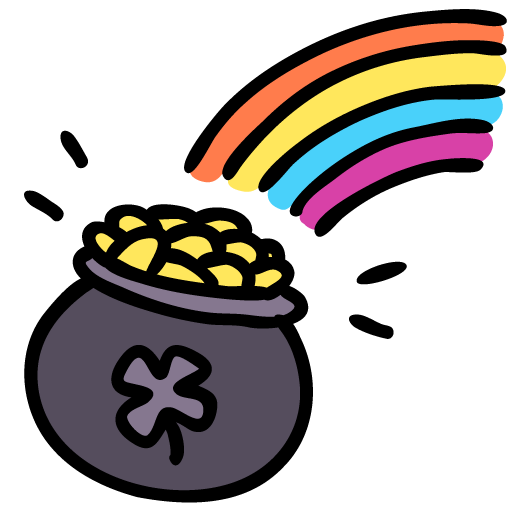 Rainbow pot icon