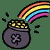 Rainbow-pot icon