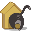 Cat birdhouse icon