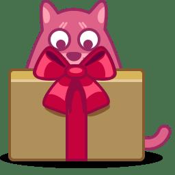 Cat gift icon