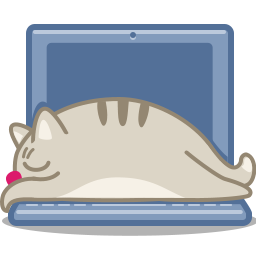 cat laptop icon