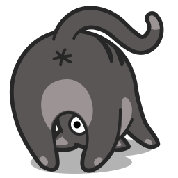 Cat upsidedown icon