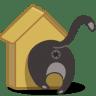 Cat-birdhouse icon
