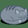 Cat-sleep icon