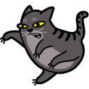 cat fight icon