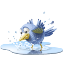 Pool bird icon