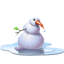 pool snowman icon