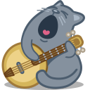 Cat banjo icon