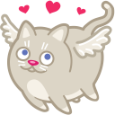 Cat cupid love icon
