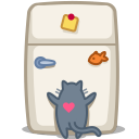 cat fridge icon