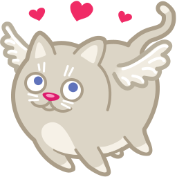 The cat lady 0/- Cat-cupid-love-icon
