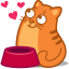 cat food hearts icon