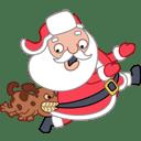 Santa dog icon